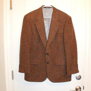 Men's lands end Harris tweed wool blazer size 40 R